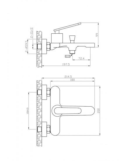 Agger A2695000 - Душевая система, хром
