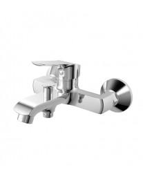 Agger Merry A1310000 - Однозахватный смеситель для ванной с коротким изливом, хром