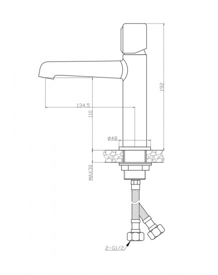 Agger Slim A2231100 - душевой комплект для ванной 3x1, хром
