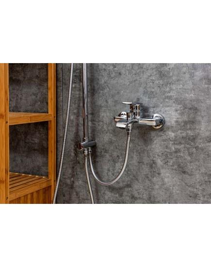 Agger Happy A0493500 - термостатическая душевая система со смесителем и тропическим душем, хром