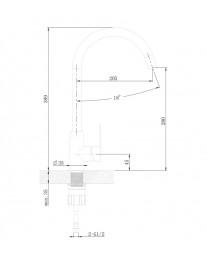 Agger Splendid A0900144 - Однозахватный смеситель для кухни с поворотным изливом, черный