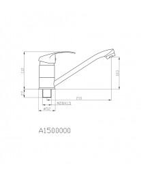 Agger Glad A1500000 - Однозахватный смеситель для кухни с длинным поворотным изливом, хром