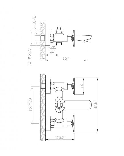 Agger Retro A1993300 - Душевая система, хром