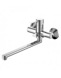 Agger Punctual A1621100 - Однозахватный смеситель для ванны с длинным поворотным изливом, хром