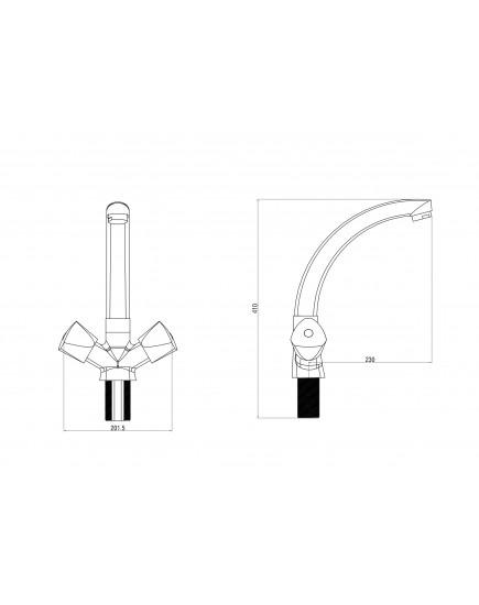 OneLife P03-001cr Полимерный смеситель для кухни