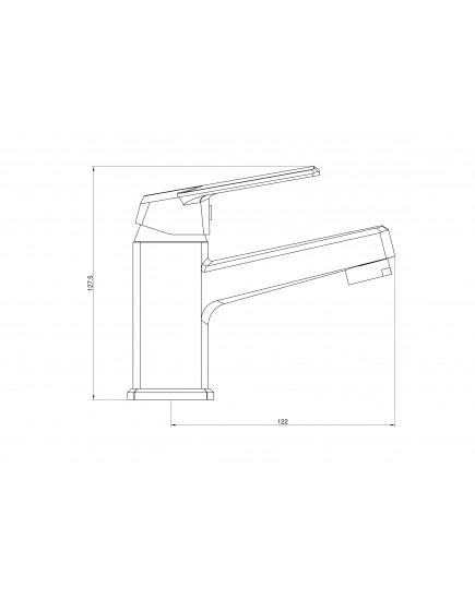 OneLife P02-021cr Полимерный смеситель для раковины