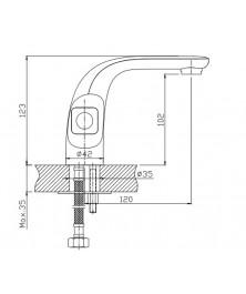 Orange Fenix M32-021crr двухзахватный смеситель для раковины