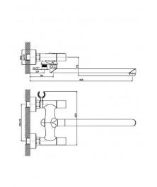 Orange Fenix M32-211cr двухзахватный универсальный смеситель с поворотным изливом 350 мм
